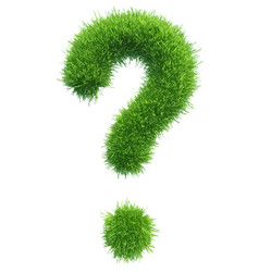 Question mark from grass vector