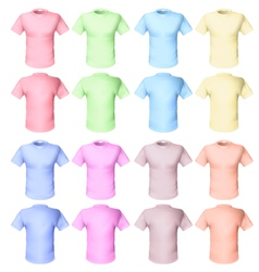 shirts pale tones vector image
