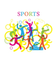 Sports colorful vector