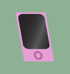 technology gadget in flat design mp3 player vector image