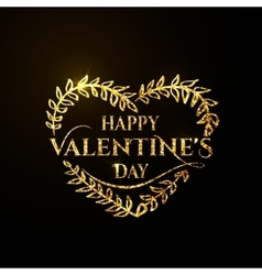 valentines day golden vector image vector image