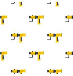 Yellow hand drill pattern flat vector