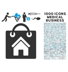 Buy home icon with 1000 medical business vector