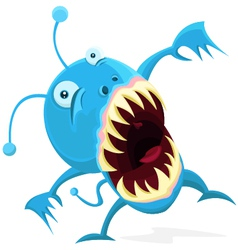 Little blue monster vector