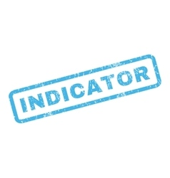 Indicator rubber stamp vector