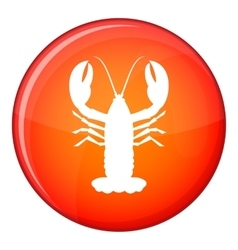 Crayfish icon flat style vector