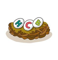 icon nest vector image