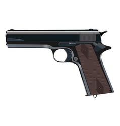 Powerful pistol gun handgun vector