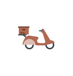 delivery service on scooter motorcycle fast vector image