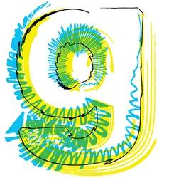 Sketch font Letter g vector image