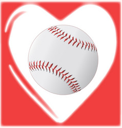 Love baseball vector