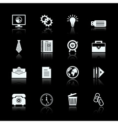 Business office supplies pictograms set vector