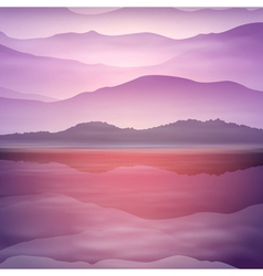 Background with sea and mountain vector
