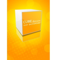 orange background with cube vector image