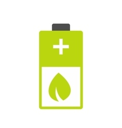 Eco energy battery icon vector image