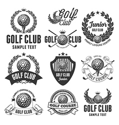 Golf emblems vector