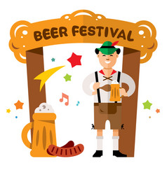 Beer festival in germany concept flat vector
