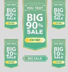Big Sale Best offer badge sticker label or tag vector image