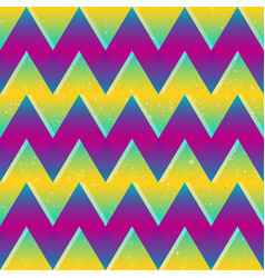 bright color zigzag seamless pattern vector image vector image