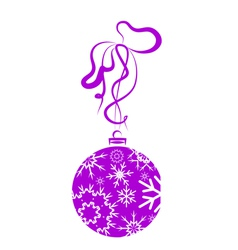 Christmas Ball With Snowflakes vector image vector image
