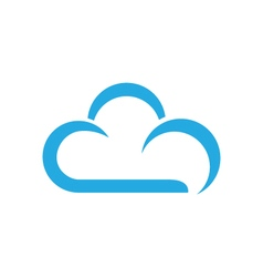 Cloud logo template vector