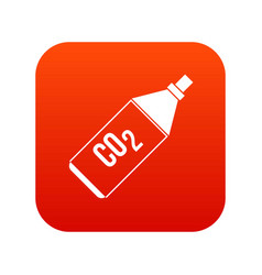 Co2 bottle icon digital red vector