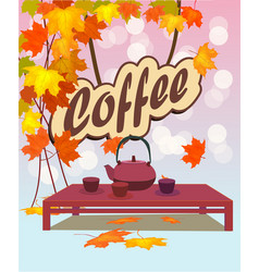 coffee shop design elements vector image vector image