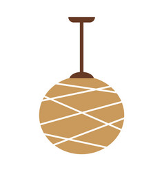 Designed beige lamp vector