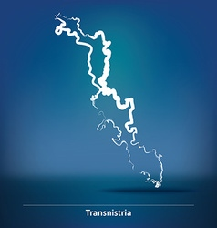 Doodle Map of Transnistria vector image vector image