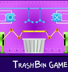 Game board trashbin vector