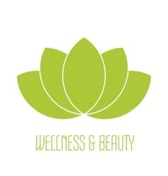 Green lotus icon vector image vector image
