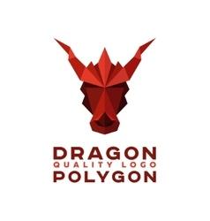 Head Polygon dragon origami logo vector image vector image