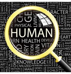HUMAN vector image vector image