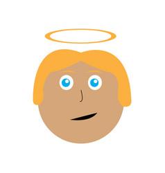 isolated angel avatar vector image