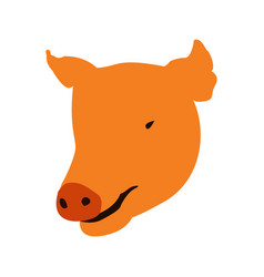 Isolated pig head vector