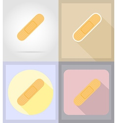 medical flat icons 07 vector image vector image