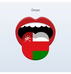 Oman language abstract human tongue vector