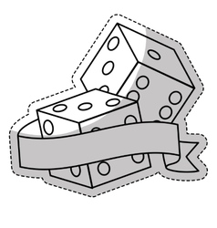Pair of dices icon vector