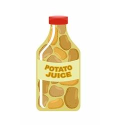 Potato juice Juice from fresh vegetables Potatoes vector image vector image