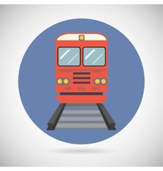 Railway train transport carriage symbol railroad vector