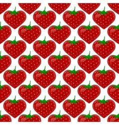 Seamless pattern with strawberry vector image vector image