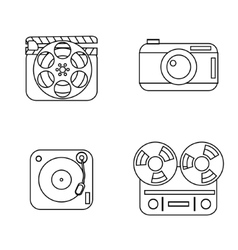 Set of line icons vector image vector image