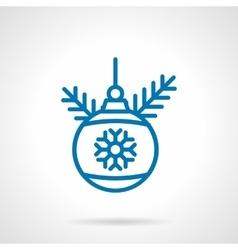 Simple blue line decoration bauble icon vector image