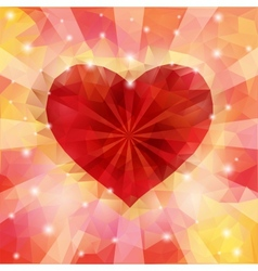 triangular heart vector image