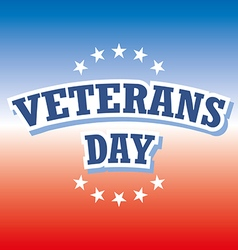 Veterans day usa banner on red and blue background vector