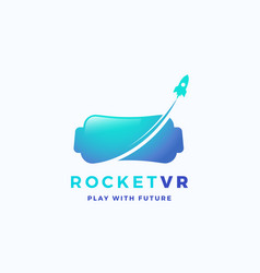 Virtual reality rocket abstract icon sign vector