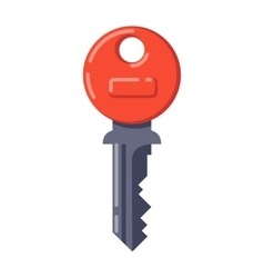 Vintage key isolated icon vector