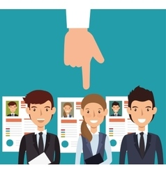 curriculum recruitment employee isolated vector image