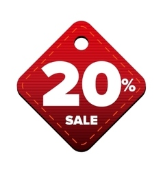 Sale twenty percent pricetag red vector