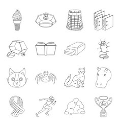 Sport animal education and other web icon in vector
